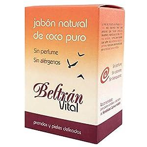 Jabón pastilla Coco puro sin perfume Beltrán Vital 240 g