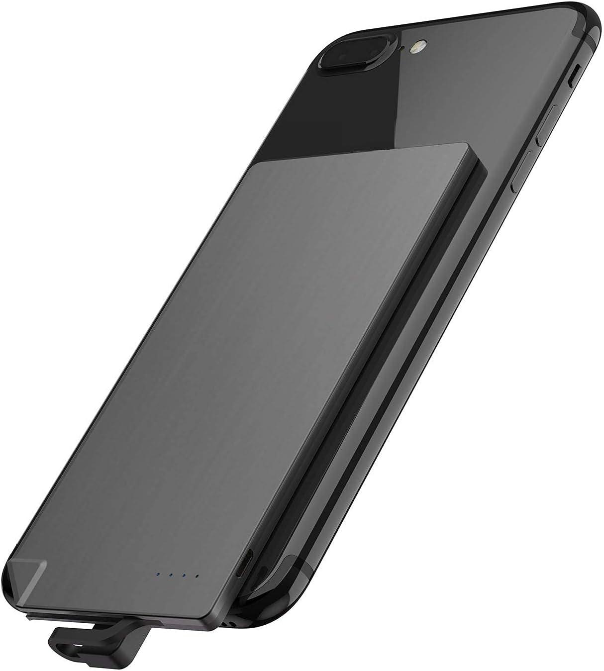 Tcbz Power Bank Cargador de teléfono portátil Ultra Delgado Cable Incorporado Batería de Respaldo 2 Salidas con 4 Indicadores LED para teléfonos Inteligentes iPhone, tabletas y disposit