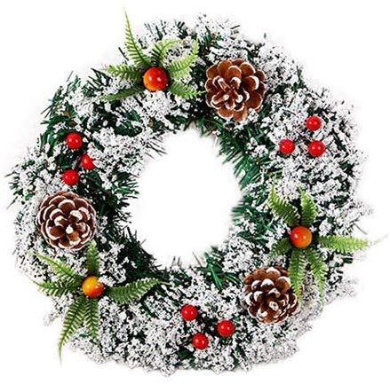 Christmas Wreath Pendant Decorative Creative Christmas Wreath Door Wreath Garland Decoration Ornament, 20 cm
