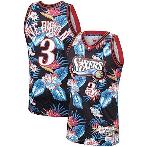 AGAB Herren NBA #3 Philadelphia 76ers Basketball Sommer Trikot Basketball Uniform Top Gr. S, farbe
