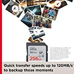 SanDisk 32GB Ultra SDHC UHS-I Memory Card - 120MB/s, C10, U1, Full HD, SD Card - SDSDUN4-032G-GN6IN 10 Great choice for compact to mid-range point-and-shoot cameras Quick transfer speeds up to 120MB/s(1) to backup those moments | (1)(For 32GB-256GB): Up to 120MB/s read speed, engineered with proprietary technology to reach speeds beyond UHS-I 104MB/s, require compatible devices capable of reaching such speed. Write speed lower. Based on internal testing; performance may be lower depending on host device, interface, usage conditions and other factors. 1MB=1,000,000 bytes. Up to 32GB to store tons of pictures and even more Full HD video(2) | 1GB=1,000,000,000 bytes. Actual user storage less. | (2)Full HD (1920x1080) video support may vary based upon host device, file attributes, and other factors. Visit the SanDisk Video Knowledge Base for more information.