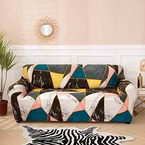 Funda de sofá a Cuadros Funda elástica Fundas de sofá para Sala de Estar Esquina sofá Toalla Funda de sofá Protector de Muebles A13 2 plazas
