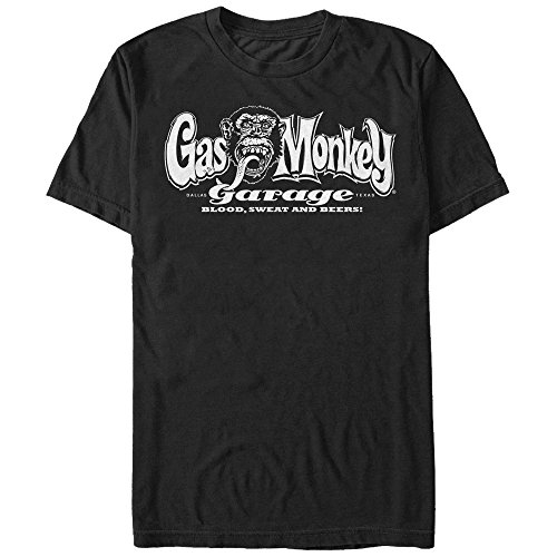Fifth Sun Gas Monkey Men's Blood, Sweat, and Beers Black T-Shirt T-Shirts