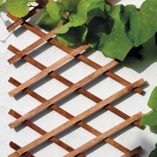 bellissa Scherengitter ausziehbar - Rankgitter Holz-Spalier oder Scherenspalier Rankhilfe im Gartenr braun 310 cm x 90 cm