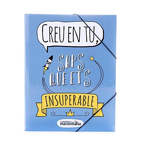 La Mente es Maravillosa - Carpeta con frase y dibujo divertido (Diseño Cree en ti) (Catalán)