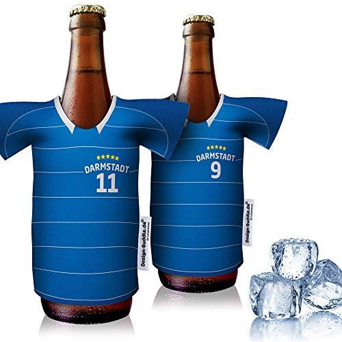 vereins-Trikot-kühler Home für FC Darmstadt 98 Fans | 2er Fan-Edition| 2X Trikots | Fußball Fanartikel Jersey Bierkühler by ligakakao.de