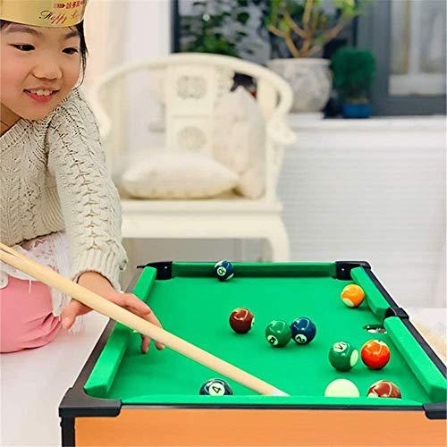 BaiLUSHoP Kinder Kinder Holz Tragbare Billardtisch Durch, Billard Junior Family Table Sport Spiel Für Jungen Mädchen Snooker-Tisch, Parties, Camping, Road Trips