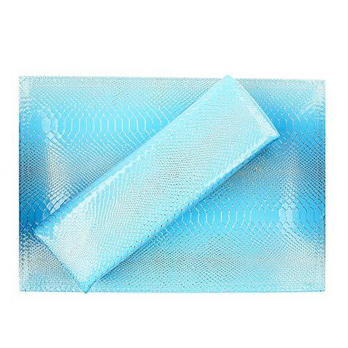 Nail Shop Professional Oreiller Main Serpent Modèle PU Cuir En Cuir Imperméable À L'eau Et À La Sueur Carré Repose-Main,blue