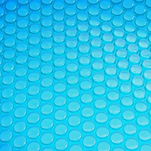 Mendler Revêtement pour Piscine/Pool, bâche Thermique/Solaire, Bleu, épaisseur: 400 µm, Rond, 4,88 m