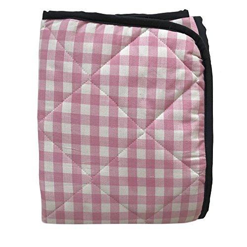 Just a Joy Picknickdecke - Extra groß - Wasserdicht - Gepolstert - Rosa Kariert