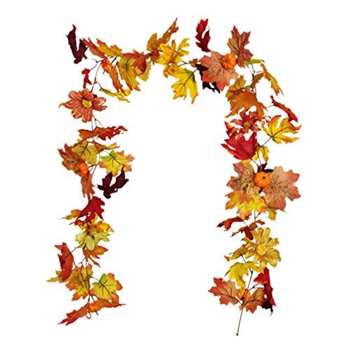 KESYOO 1 St Gesimuleerde Rotan Kerst Mooie Thanksgiving Fijne Pompoen Esdoorn Herfst Esdoorn Bladeren Hanger Zonnebloem…