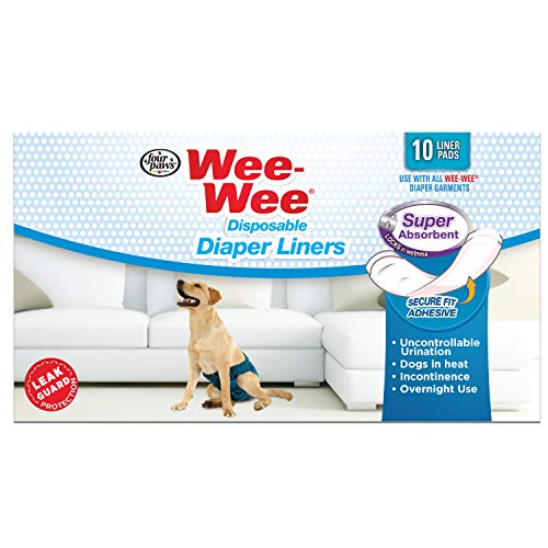 Four Paws Wee-Wee Super Absorbent Disposable Dog Diaper Liners 10 Count