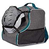 Ferocity Bolsas para Botas de esquí Boot Bag Patines con Ruedas o de Hielo len Turquoise con Malla [054]