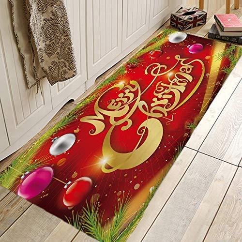Alfraza para exteriores al aire libre Creativo 3D de impresión Navidad Mat alfombras y moquetas de pasillo for el dormitorio Sala de estar Cocina Baño Alfombra antideslizante Tapetes A prueba de la in
