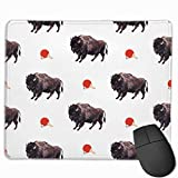 Drempad Gaming Mauspads Custom, Non-Slip Mouse Pads Rectangle Rubber Mousepad Buffalo Pong Print Gaming Mouse Pad