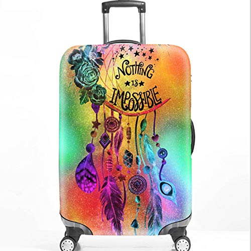 YI'HUI Elastic Luggage Case for 18-32 Inch Trolley Suitcase Dustproof Dream Catcher Travel Accessories,B2,L