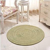 手織りの快適な楕円形の敷物、居間の敷物、円形のニットの敷物、子供の遊びのテントのフロアマット、クロークの敷物および敷物-100cm_Grass Green