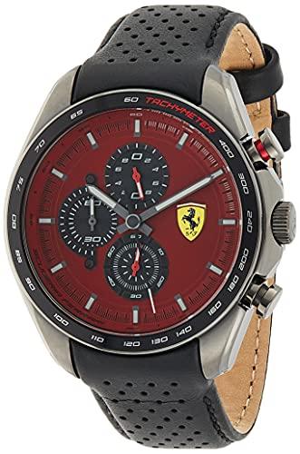 Scuderia Ferrari Reloj analógico para Hombre. de Cuarzo con Correa en Cuero 0830650