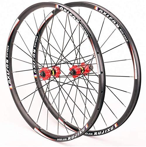 ZHTY Ruedas de Ciclismo MTB de 29 Pulgadas, aleación de Aluminio de Doble Pared Ruedas de Bicicleta de 27,5 Pulgadas Liberación rápida Ruedas Delanteras y traseras de 24 Orificios 8/9/10/11