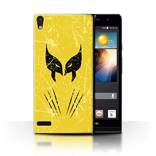 Hülle Für Huawei Ascend P6 Antiheld Comic-Kunst Wolverine Inspiriert Design Transparent Ultra Dünn Klar Hart Schutz Handyhülle Case