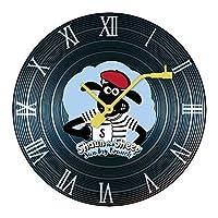 掛け時計 壁掛け時計 ひつじ 羊 ショーン 壁掛けクロック 連続秒針 直径30cm インテリア 木製 静音 円形 電池式 ウォールクロック 壁時計 部屋装飾 壁かけ時計 カフェ クロック フレームなし プレゼント アクセサリー