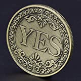 Strugglejewelry Novelty YES NO Letter Challenge Coins, Decision Maker (Bronze)