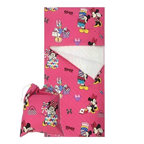 Panini Tessuti - Juego de guardería, saco de dormir y bolsa guardería, para niños de 2a 6años Minnie e Daisy