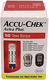 Accu-Chek Aviva Plus NFR Test Strips, 50 Count