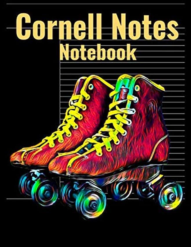 アプローチもし触手Cornell Notes Notebook: Universal Note Taking System, Vibrant Roller Skates Cover, 120 Pages, 8.5 x 11 inches (21.59 x 27.94 cm)