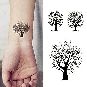 Oottati Small Cute Temporary Tattoo Tree Totem  2 Sheets