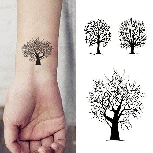 Oottati Small Cute Temporary Tattoo Tree Totem (2 Sheets)
