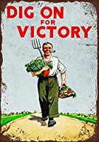 勝利。インチのブリキの看板ヴィンテージ鉄の絵の金属板ノベルティ装飾クラブカフェバーを掘り下げます。