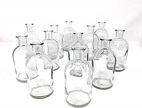 Serene Spaces Living Clear Medicine Bottle Bud Vases, Vintage Style Vases, Set of 48, 5.25