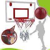 HEITIGN Mini-Panier de Basket-Ball Panier de Basket-Ball Suspendu avec Cadre de Balle Et Pompe pour Enfants Adultes Jeux de Basket-Ball de Bureau de Bureau Intérieur