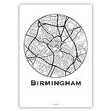 Plakat Birmingham England Minimalist Map - Poster, City