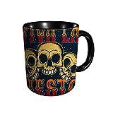 Póster de cita de Viva La Fiesta Three Happy Skulls in Coffee Tea Taza de agua Taza de cerámica ml Impresión completa