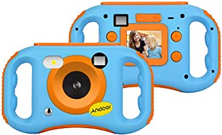 Andoer Kids Digital Camera Children Creative Camera Anti-drop 5MP 1080P HD Digital Mini Video Camcorder with 1.77 Inch LCD...