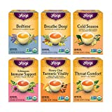 Yogi Tea - Get Well Variety Pack Sampler (6 Pack) - 6 Teas for Cold and Flu Symptom Support - 96 Tea...