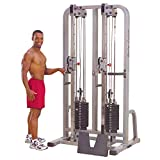 Body-Solid Pro Club Line SDC2000G2 Dual Cable Column with Dual 235-Pound Weight Stacks