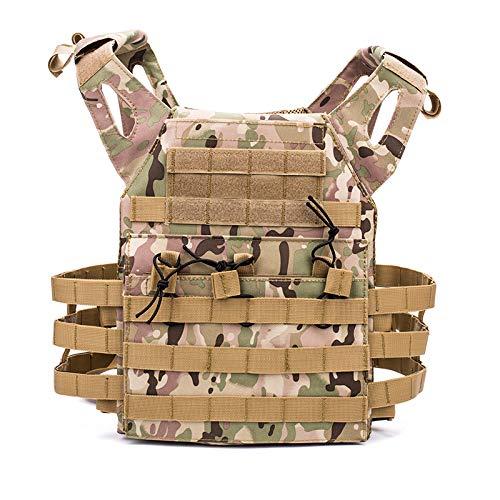 Leicht Military Tactical Vest,Neuer Typ JPC MOLLE Weste Wasserdicht Militärische Taktische Brustplatte Jagd Weste Airsoft Kampf Ausrüstung Paintball Schutzweste-Enthält Leitbleche,Camouflage#1-OneSize