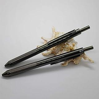 عبوة من قطعتين 4 في 1 قلم متعدد الوظائف 4 ألوان مع قلم رصاص ميكانيكي 0.5 مم وقلم حبر أسود وأحمر وأزرق في عبوة هدية 2PCS PACK
