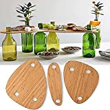 2021 New Wine Bottle Topper Serving Tray Set - Creative Wooden Outdoor Picnic Table Charcuterie Board Tray, Portable Snack and Cheese Holder Tray