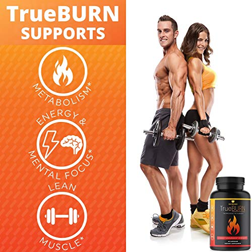 True Recovery TrueBURN Thermogenic Fat Burner & Appetite Suppressant Weight Loss Supplement with Yohimbe Bark, Green Tea Extract + EGCG and Raspberry Ketones - 60 Weight Loss Pills for Men and Women 4