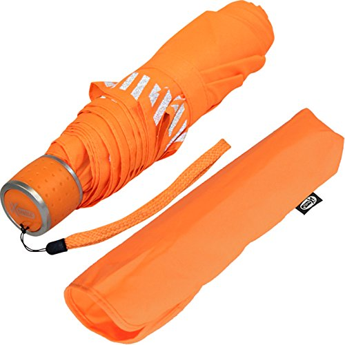 iX-brella Mini Kinderschirm Safety Reflex extra leicht - neon orange