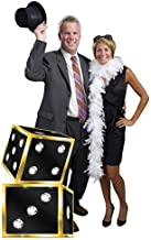 3 ft. 10 in. Rhinestone Dice Vegas Casino Standee Standup Photo Booth Prop Background Backdrop Party Decoration Decor Scene Setter Cardboard Cutout