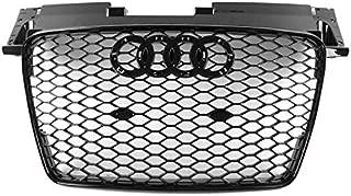 ZMAUTOPARTS For 2007-2014 Audi TT/TT Quattro TTRS Style Honeycomb Mesh Hex Grille Gloss Black