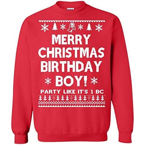 Agr J.esus Merry Christmas Birthday Boy Sweatshirt Unisex, for Holiday, for Halloween, for Christmas, for New Year, for Thanksgiving - Front Print T Shirt for Men and Women