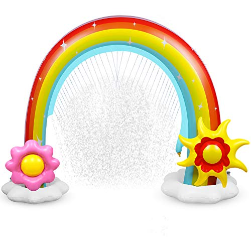 Anpro Inflatable Rainbow Yard Summer Sprinkler Toy, Over Size, Perfect for...