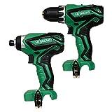 (1) Hitachi DS10DFL2 12V Drill Driver & (1) Hitachi WH10DFL2 12V Impact Driver