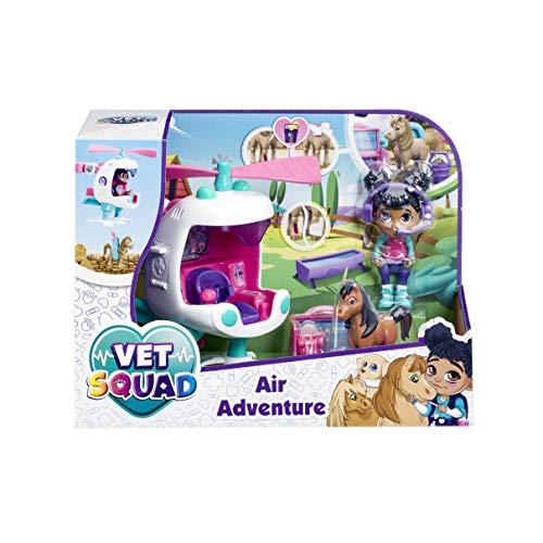 Vet Squad Robin & Helikopter-Air Adventure, 7,6 cm bewegliche Tierarztfigur mit Fahrzeug, Haustier und Zubehör